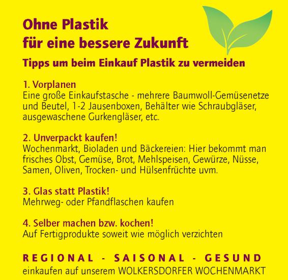 Der Wolkersdorfer Wochenmarkt wird plastikfrei